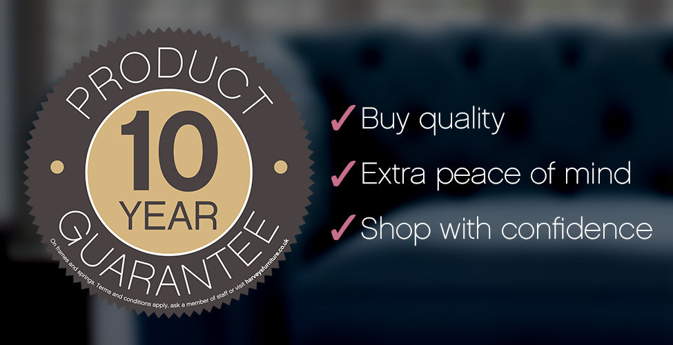 Harveys 10 Year Product Guarantee