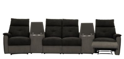 Harveys Prague Large Corner Sofa Group With Media Tray&aposs & Manual Recliner Actions