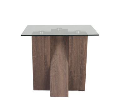 Harveys Piston Lamp Table Dark Oak dark oak