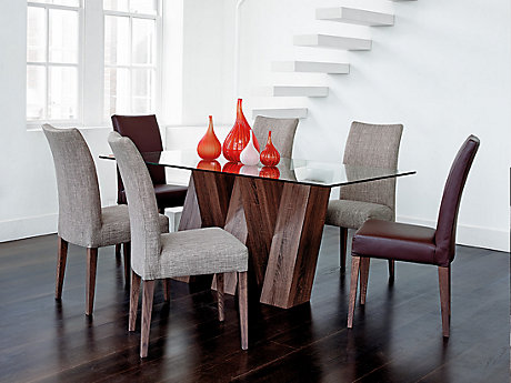 Piston Walnut Dining Chair Pair