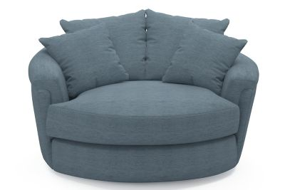 Buxton Swivel Cuddler Chair