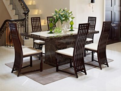 Caesar Dining Table & 6 Dining Chairs