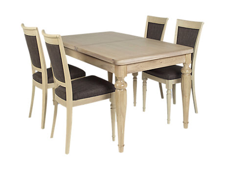 Florine Extending Dining Table & 4 Florine Chairs
