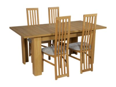 Hampshire Extending Dining Table & 4 Tall Wooden Chairs