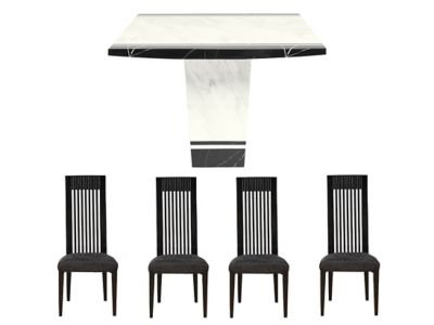 Mykonos Square Table & 4 Tate Chairs