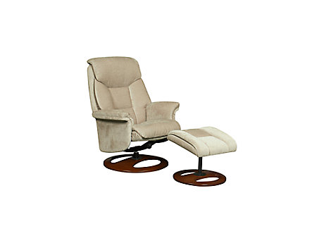 Exley relaxer chair with footstool