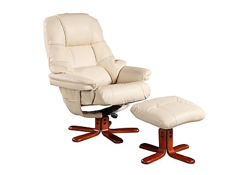 Lucetta relaxer chair with footstool