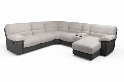 Harveys Arlington SRC Corner Sofa with manual actions RHF Chaise and media tray