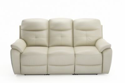 Harveys Maple (LLM) 3 seater sofa 2 manual recliners in leather and leather match