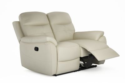 Harveys Maple (LLM) 2 seater sofa 2 manual recliners in leather and leather match