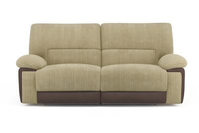 Harveys Sycamore 3 seater sofa with 2 electric recliner actions in jumbo cord