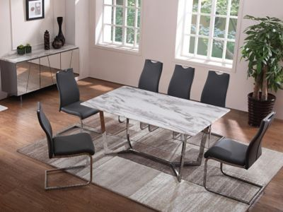 Iona Dining Table & 4 Cantilever Chairs