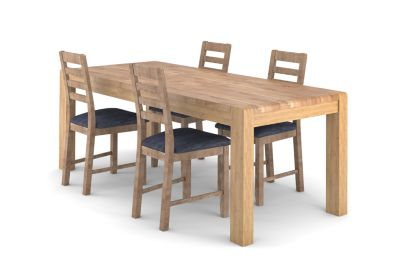 Cargo Portsmore Extending Dining Table & 6 Victoria Steel Chairs