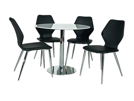 Ezra Dining Table & 4 Chairs