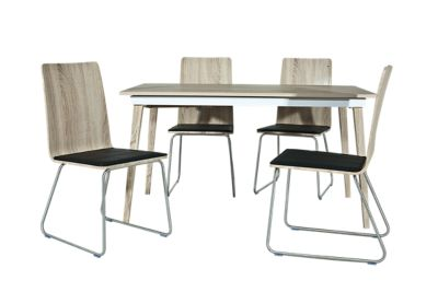 Sandy Extending Dining Table & 4 Chairs