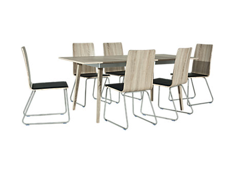 Sandy Extending Dining Table & 6 Chairs
