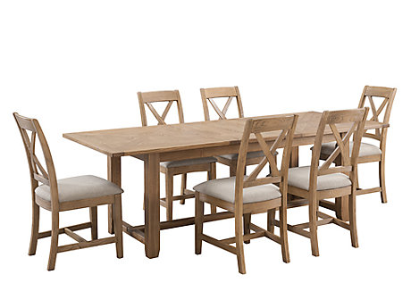 Orchard Rectangular Extending Dining Table & 6 Dining Chairs