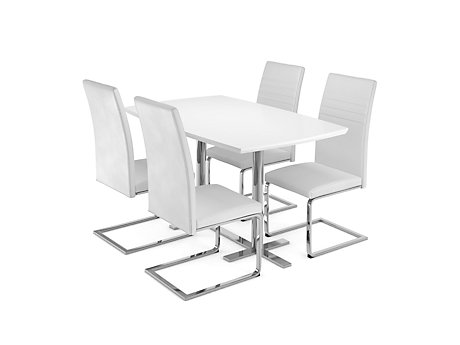 Alaska Dining Table & 4 Alcora Chairs