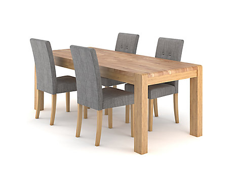 Cargo Portsmore Extending Dining Table 4 Grey Lucy Chairs