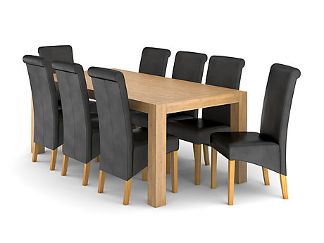 Lindos Dining Table & 8 Darcy Chairs