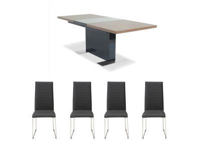 Vieux Extending Dining Table & 4 Nova Chairs