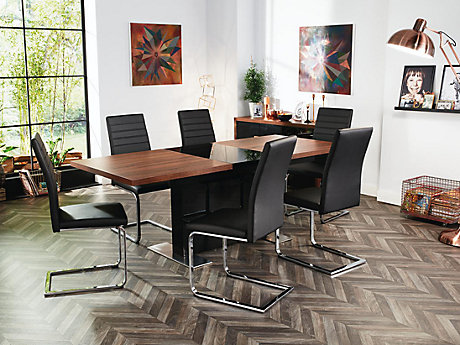 Vieux Extending Dining Table & 6 Alcora Chairs