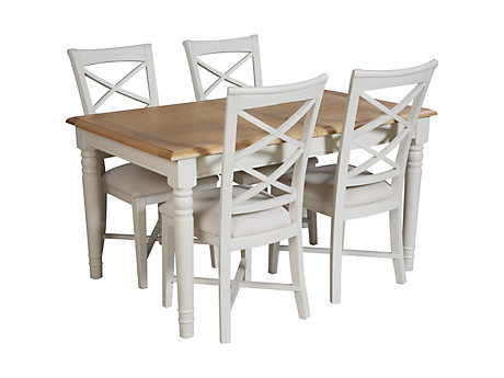 Cargo Hartham Extending Dining Table And 6 Wooden Chairs