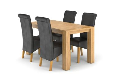 Dovetail Fixed Dining Table & 4 Darcy Chairs