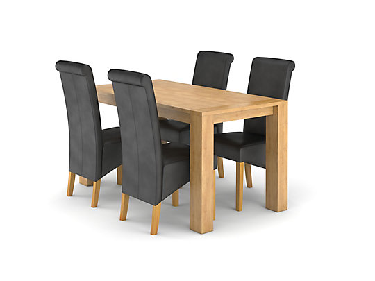 Dovetail Fixed Dining Table U0026 4 Darcy Chairs
