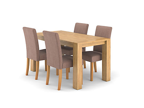 Dovetail Fixed Dining Table U0026 4 Taya Chairs ... Part 56