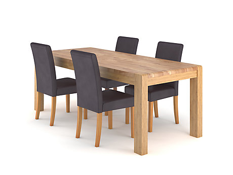 Cargo Portsmore Extending Dining Table & 4 Taya Chairs