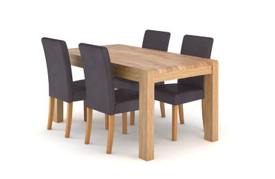 Cargo Portsmore Dining Table & 4 Taya Chairs