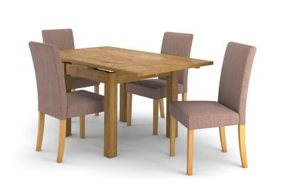 Brookes Square Extending dining Table & 4 Taya Chairs
