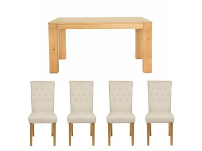 Dovetail Dining Table & 4  Laura Chairs