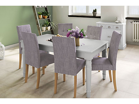 Henslow Fixed Dining Table & 4 Darcy Chairs