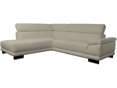 Steinpol Aura Left Hand Facing Leather Corner Sofa Group With Chaise