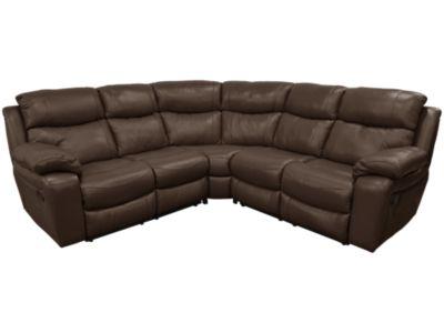 Harveys Harrier Large Electric Recliner Leather Corner Sofa Group