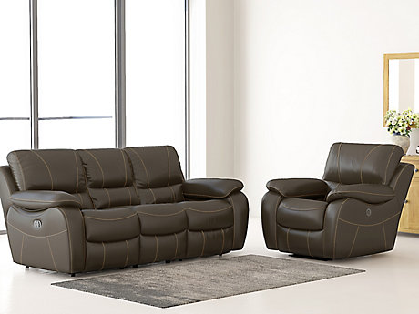Bel Air Leathaire 3 Seater Recliner Sofa