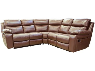 Steinpol Heathy Large Electric Recliner Leather Corner Sofa Group