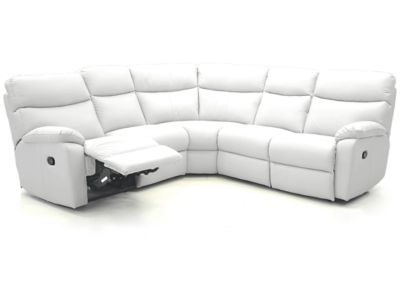 Harveys Bailey Large Corner Sofa Group With 2 Electric Recliner Actions Leather