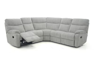 Harveys Bailey Large Corner Sofa Group With 2 Electric Recliner Actions  Fabric