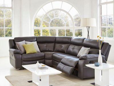 Harveys Langdale Right Hand Facing Manual Recliner Corner Sofa Group