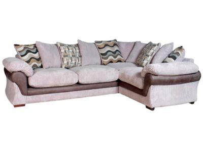 Harveys Lullabye Left Hand Facing Pillowback Corner Sofa Group With Encore Seat Upgrade