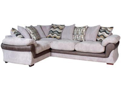 Harveys Lullabye Right Hand Facing Pillowback Corner Sofa Group With Encore Seat Upgrade
