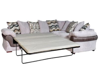 Harveys Lullabye Left Hand Facing Pillowback Sofabed Corner Sofa Group With Encore Seat Upgrade
