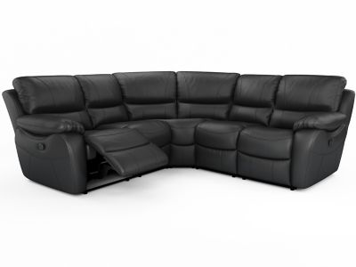 Harveys Bel Air Leathaire Large Corner Sofa Group With 2 Manual Recliner Actions