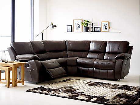 Bel Air Leathaire Large Recliner Corner Group