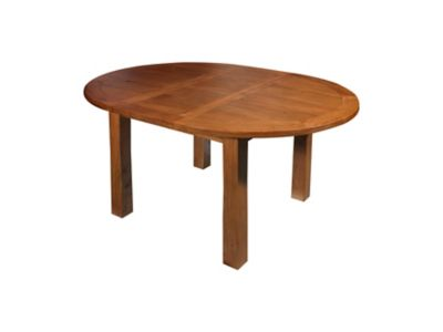 Harveys Toulouse Round extending dining table oak