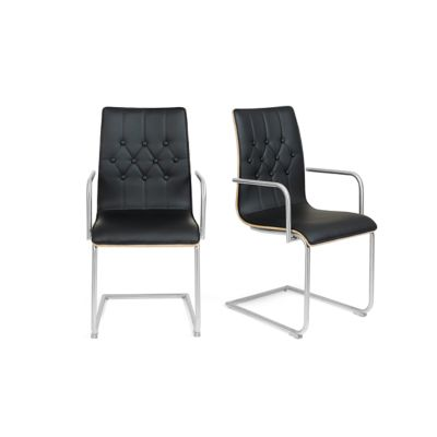 Harveys Vieux Carver Chairs (Pair) In Black black carver