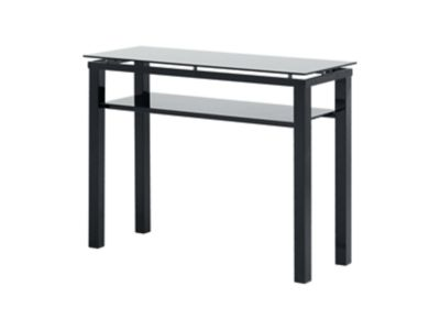 Harveys Noir Console Table Black black glass